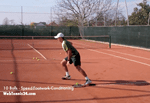 video speed tennis drill - 10 balls