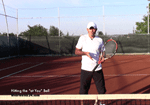 volley tennis tip - how to hit the ball directed to you