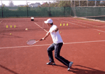 ball machine tennis drill - backhand drop shot placement