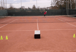 ball machine tennis drill - forehand and backhand alternate