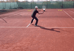 ball machine tennis drill - forehand approach and volleys