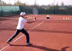 ball machine tennis drill - forehand volley placement
