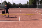video tennis drill - controlling depth