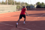 video tennis speed drill - cross run