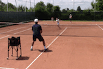 video tennis drill - forehand backhand push