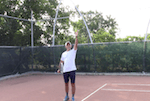 timing the serve swing tennis tip