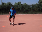 video speed tennis drill - pick and drop