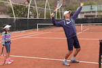 tennis tip - elbow position during serve backswing