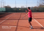 ball machine tennis drill - punch and feel