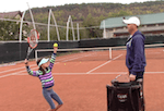 how to correct the racquet back drop when serving