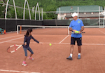 video tennis drill - step into the ball