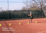 video footwork tennis drill - swing in circle