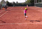 singles play tennis drill - two minutes