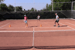video footwork tennis drill - four cones