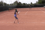 video tennis game for singles play - you versus basket