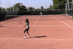 video tennis drill for singles play - cross fire