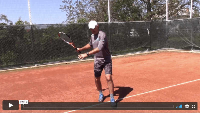how to keep head down and still during tennis strokes