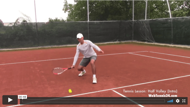 video tennis lesson - how to hit the half volley