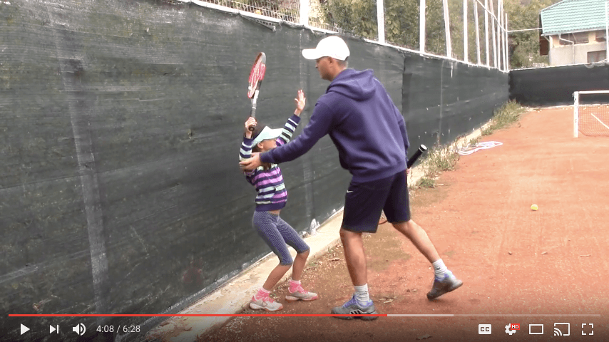 tennis technique serve tip - how to correct the backswing