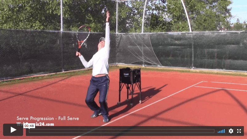 tennis serve technique through progression drills / no words