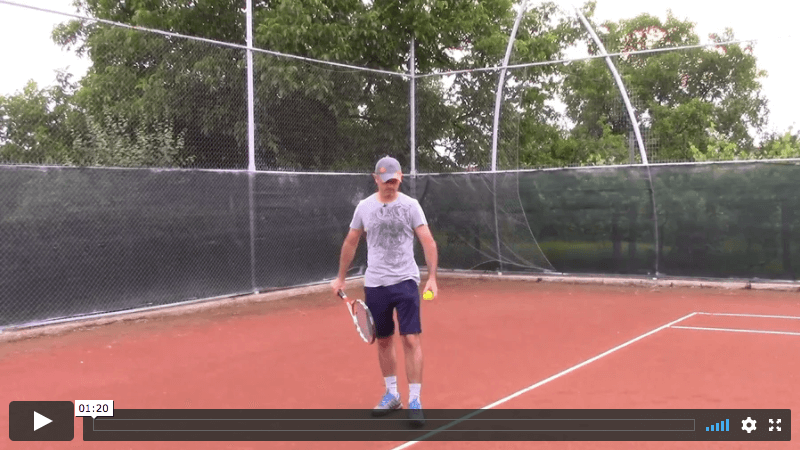 video tennis lesson - how to avoid opening the racquet face during serve backswing