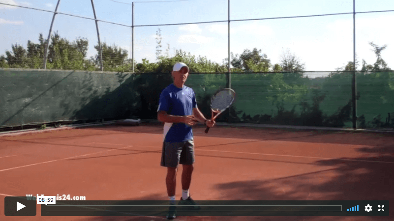video tennis lesson: switching from one-handed to two-handed backhand