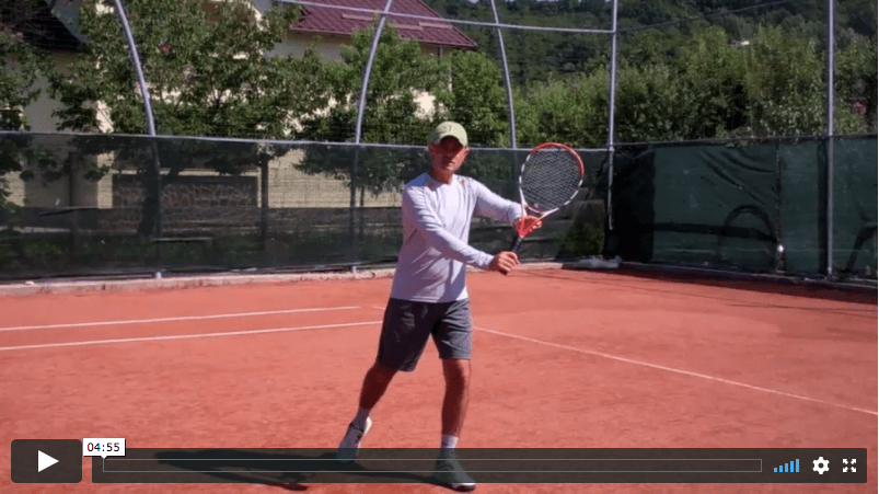video tennis lesson - how to switch from two-handed to one-handed backhand