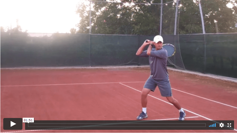 video tennis lesson - how to learn the two-handed backhand technique