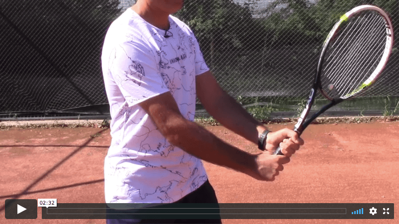 video tennis lesson - best grips for serve return