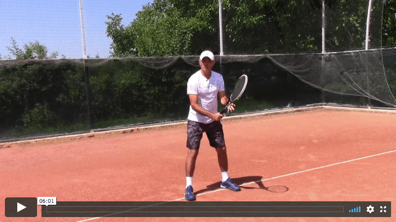 video tennis lesson - non-dominant arm in tennis