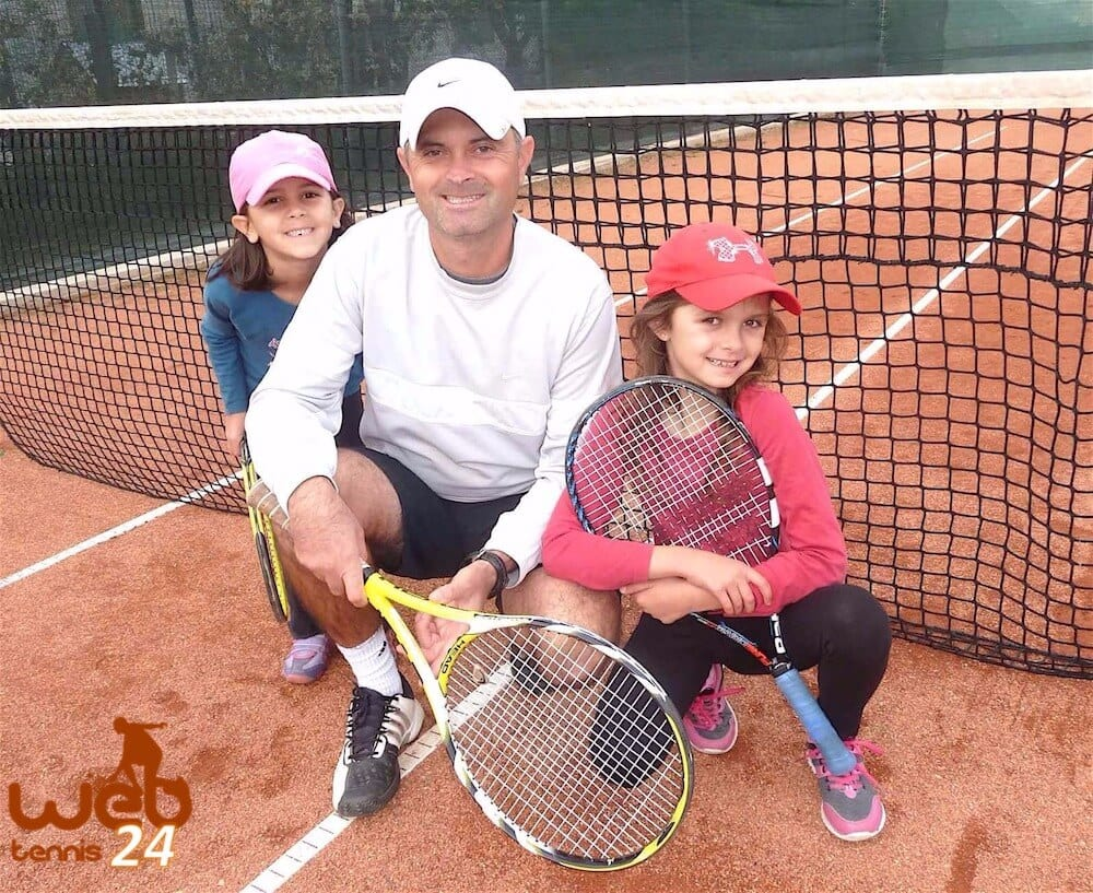 Bianca, Cosmin and Cezara - the My Daddy / My Coach tennis team
