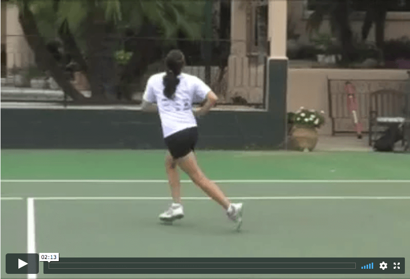 video tennis tip - how to retrieve a lob