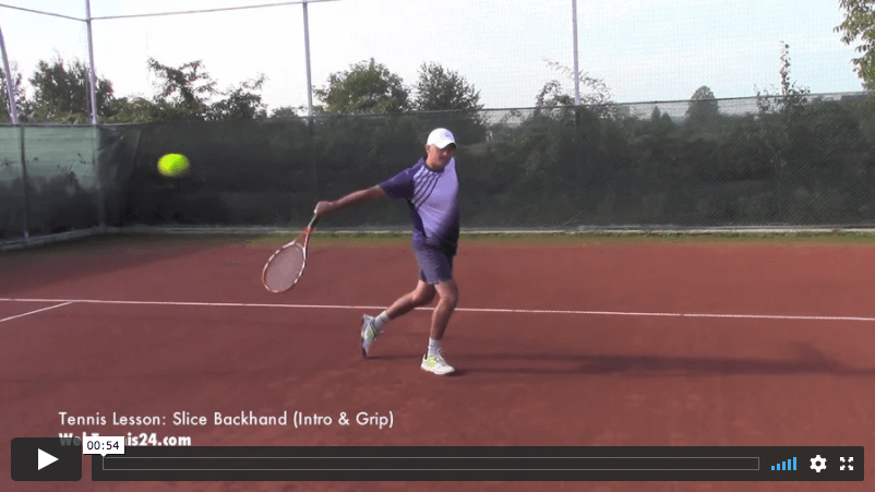 video tennis lesson - slice backhand technique