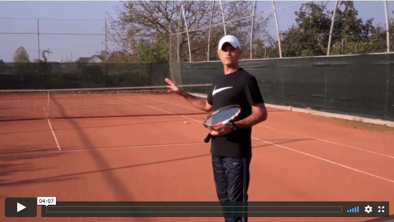 video tennis lesson: slice serve technique