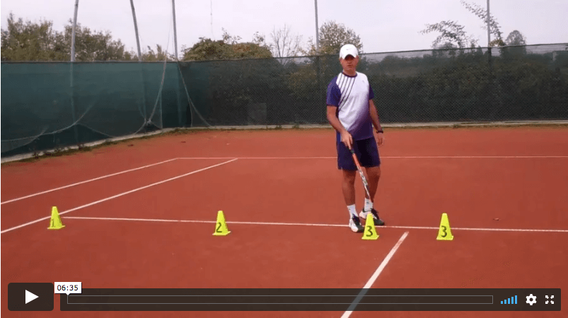 video tennis lesson - how to practice your serve