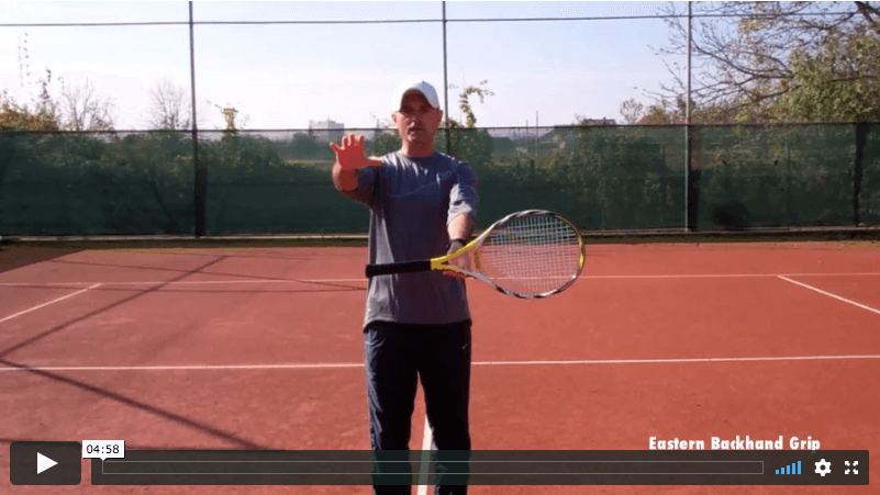 video tennis lesson - grips