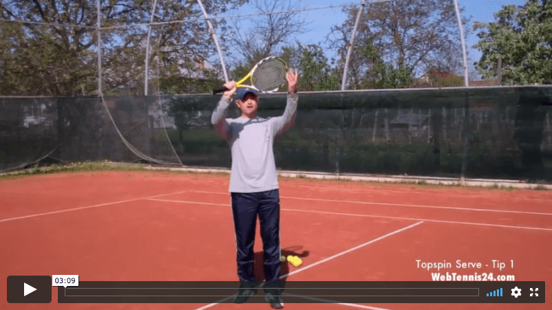 video tennis tip - how to create topspin on the serve