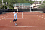 video tennis drill - arrow