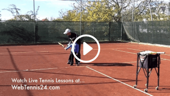 first my daddy / my coach live tennis lesson