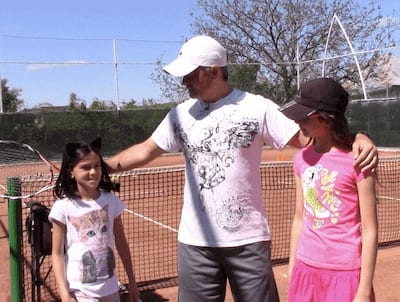 full tennis lessons with kids