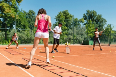 cardio tennis drills for groups