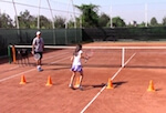 tennis footwork drills - cone weave