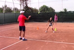 fun tennis drill for kids - roundabout