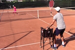 tennis drill - one-way volley