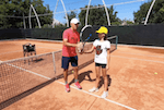 tennis volley fix - avoid leading with elbow